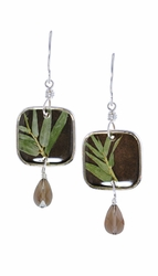 Bamboo Sml Sq. w/Drop Earrings