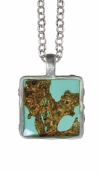 "Bark 16"" Lg Sq. Necklace"