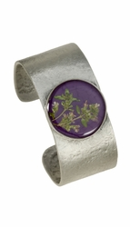 Blooming Thyme on Acai MED RND Cuff Bracelet