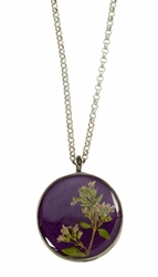 Blooming Thyme on Acai MED RND Necklace