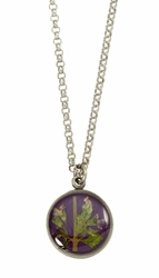 Blooming Thyme on Acai SM RND Necklace
