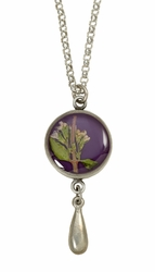 Blooming Thyme on Acai SM RND Necklace w/Drop