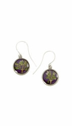 Blooming Thyme on Acai Ultra SM RND Earrings