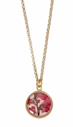 "Coral Bell Small Round 16"" Adj. Necklace"