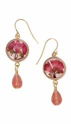 Coral Bell Small Round w/Drop Earrings