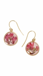 Coral Bell Small Round Earrings
