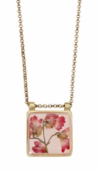 "Coral Bell Square 16"" Adj. Necklace"
