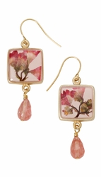 Coral Bell Square w/Drop Earrings