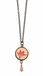 Cornflower Sm Rnd Necklace w/drop