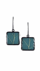 Damiana Oak Sml Sq Earrings