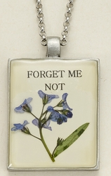 Forget Me Not Seed Pack Pendant Necklace