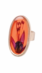 Fuchsia on Nectarine Adjustable Ring
