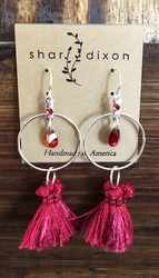Garnet Tassel Earrings