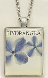 Hydrangea Seed Pack Pendant Necklace