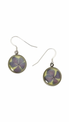 Hydrangea Small Round Earrings