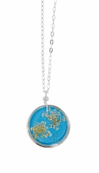 "Laceflower Belize Breeze 16"" Med Rd. Necklace"