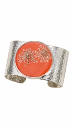 Laceflower Blood Orange Lg. Rd. Cuff Bracelet