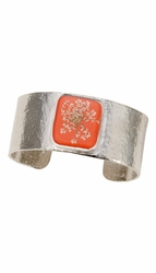 Laceflower Blood Orange Med Sq. Cuff Bracelet
