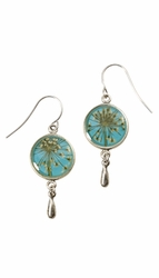 Laceflower on Belize Breeze SM Rnd Earrings w/Drop