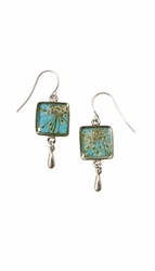 Laceflower on Belize Breeze SM SQ Earrings w/Drop