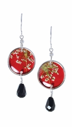 Laceflower Petite Rd. w/Drop Earrings