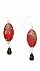 Laceflower Small Oval w/Drop Earrings