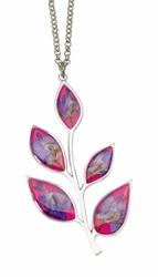 Larkspur Magenta Petals Necklace