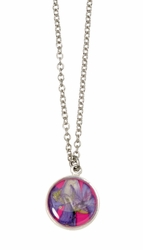 Larkspur Magenta Sm Rnd Necklace