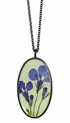 Lobelia Lime LG Oval Necklace