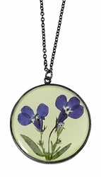 Lobelia Lime LG Round Necklace