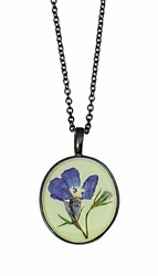 Lobelia Lime Med Oblong Necklace