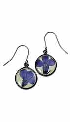 Lobelia Lime SM Round Earrings