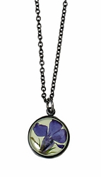 Lobelia Lime SM Round Necklace