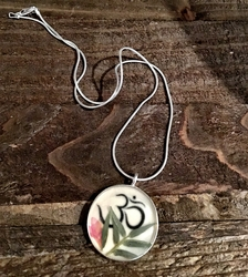 Om Necklace with Bamboo