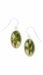 Oregano Yellow Oval Earrings