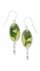 Oregano Yellow Oval Earrings w/Drop