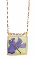Purple Larkspur Lime Lq Sq Necklace