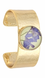 Purple Larkspur Lime Rnd Cuff