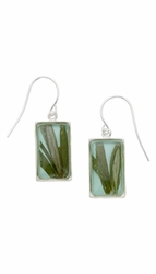 Rosemary Aqua Rect Earrings