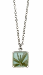 Rosemary Aqua Sm Square on Chain