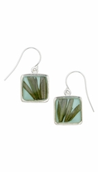 Rosemary Aqua Square Earrings