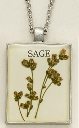 Sage Seed Pack Pendant Necklace