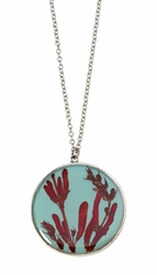 Scarlet Gilia on Robin Large Round Necklace