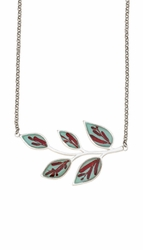 Scarlet Gilia on Robin Leaves Necklace