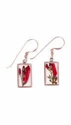 Scarlet Gilia Sm Rectangle Earrings