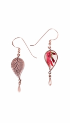 Scarlet Gilia Sm Leaf w/Drop Earrings