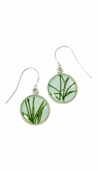 Seagrass on Aqua SM Earrings