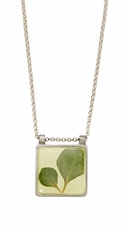 Silver Leaf Square Necklace