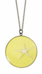 Silver Starfish on Lemon LG RND Necklace