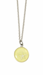 Silver Starfish on Lemon SM RND Necklace